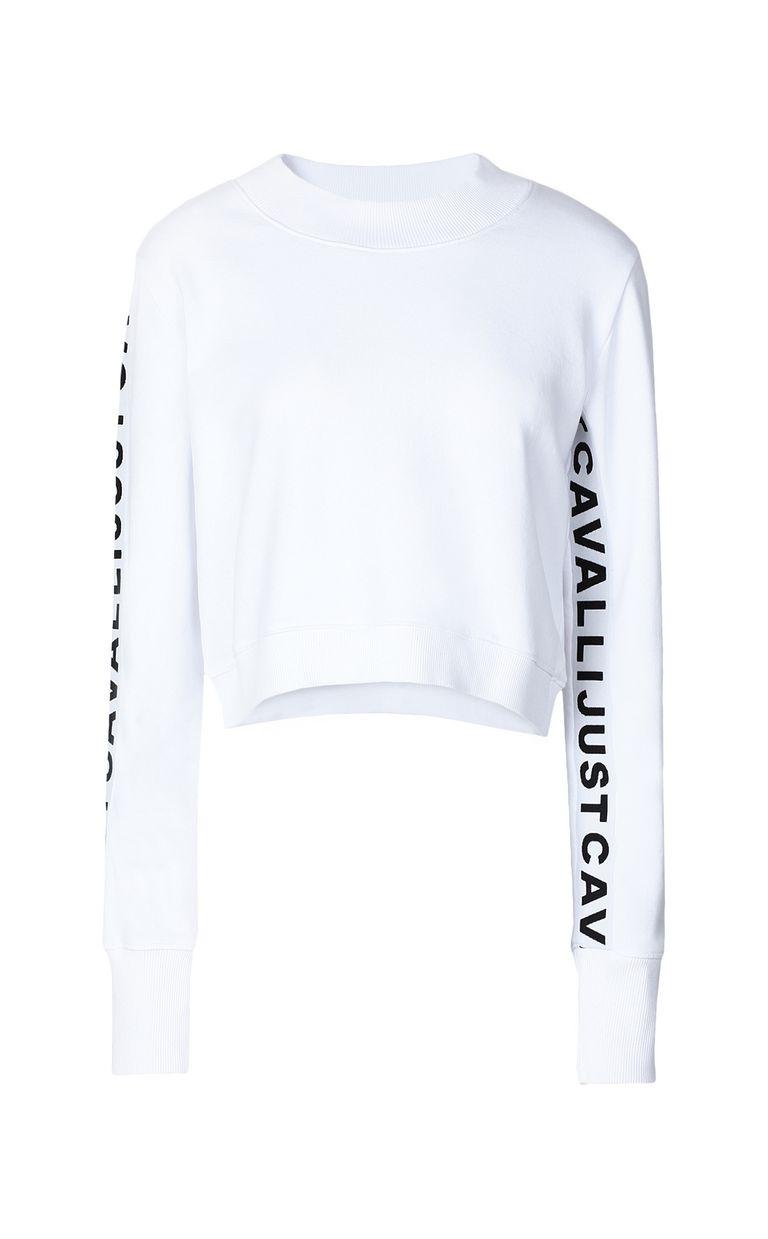 JUST CAVALLI Sweatshirt with logo tape Sweatshirt Woman f