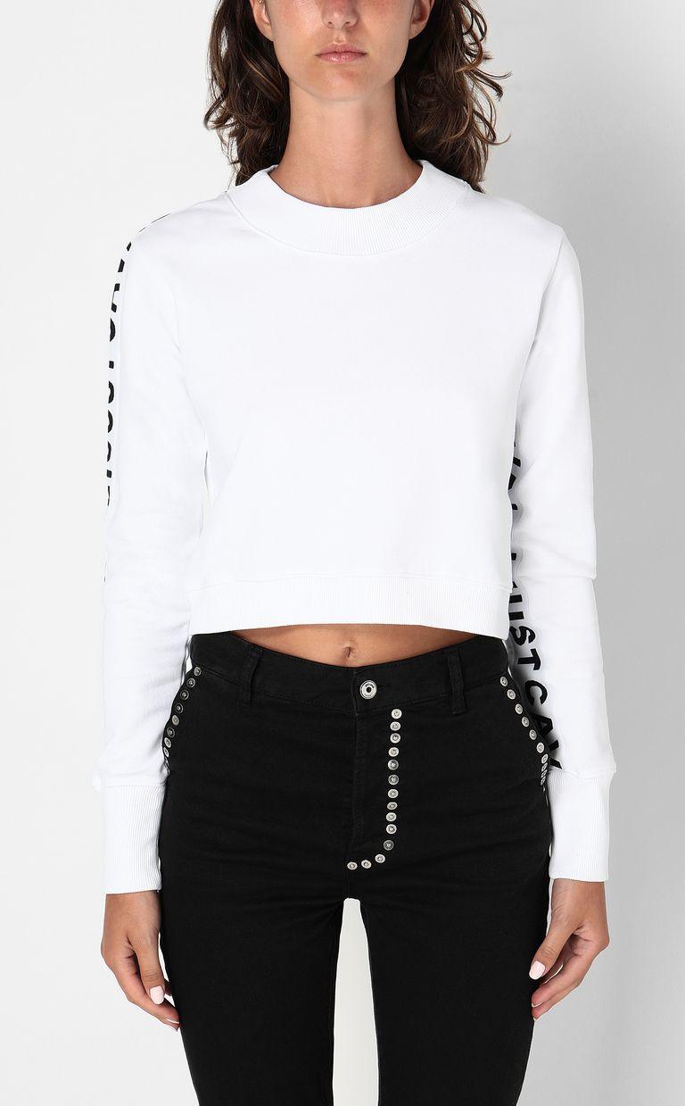 JUST CAVALLI Sweatshirt with logo tape Sweatshirt Woman r