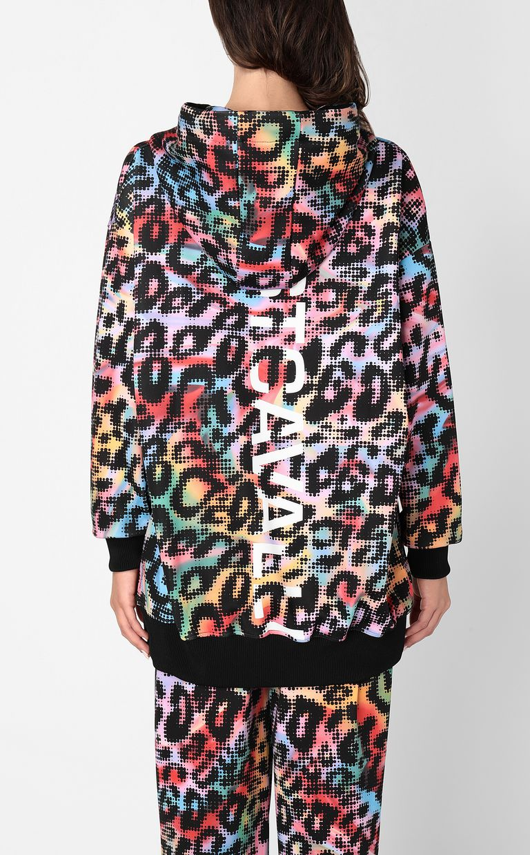JUST CAVALLI Sweatshirt with Leo-Pop print Sweatshirt Woman a
