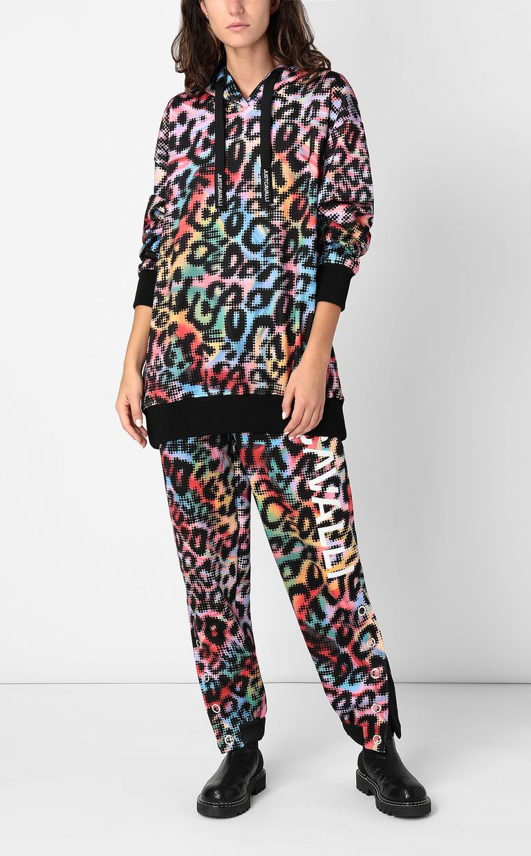 JUST CAVALLI Sweatshirt with Leo-Pop print Sweatshirt Woman d