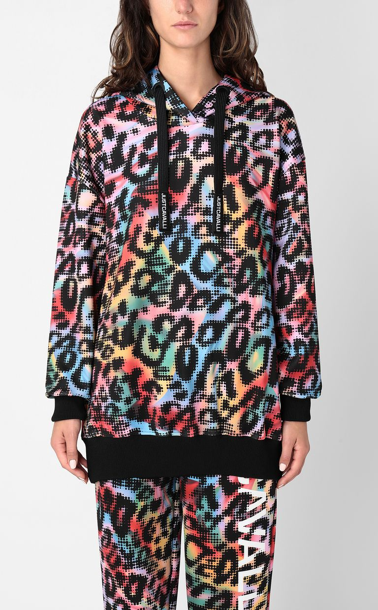 JUST CAVALLI Sweatshirt with Leo-Pop print Sweatshirt Woman r