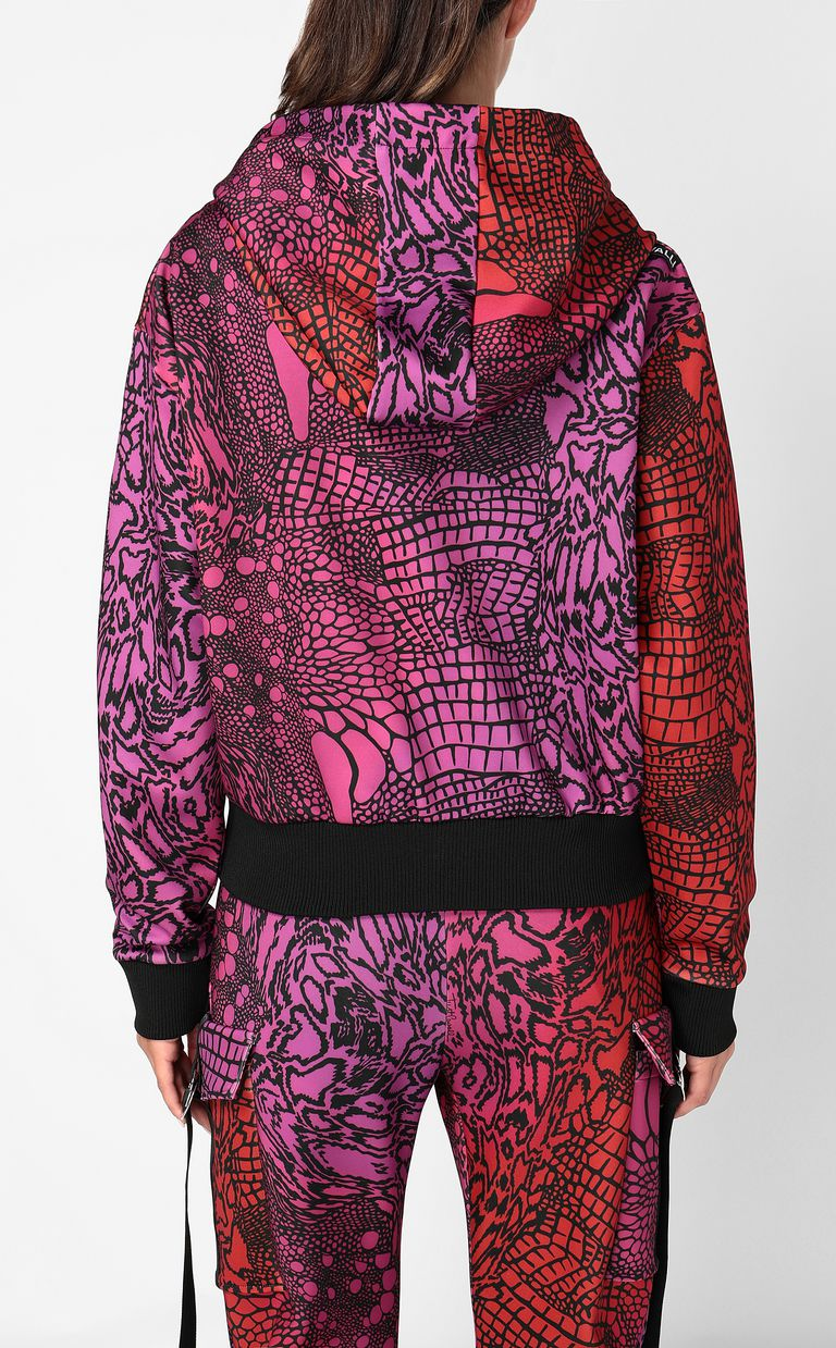JUST CAVALLI Sweatshirt with Reptilia print Sweatshirt Woman a