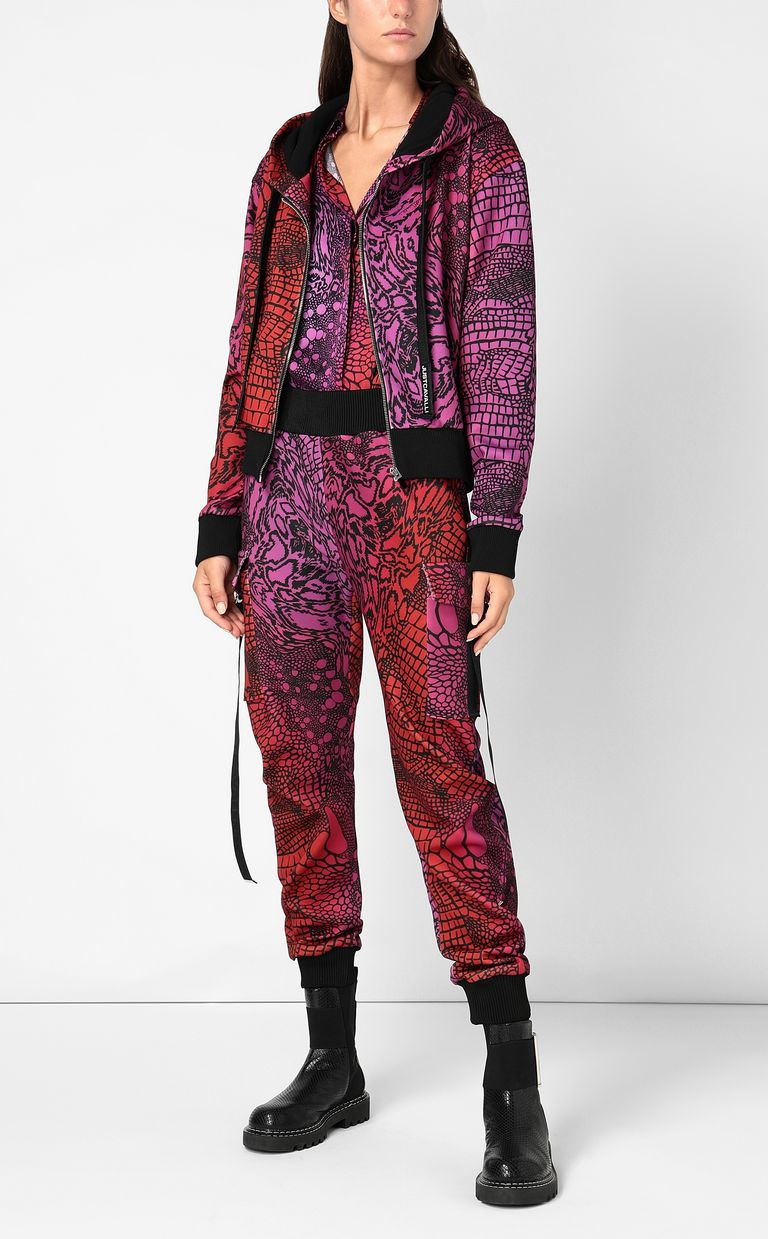 JUST CAVALLI Sweatshirt with Reptilia print Sweatshirt Woman d