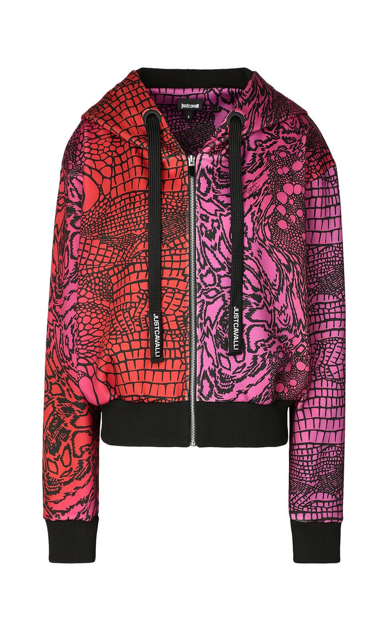 JUST CAVALLI Sweatshirt with Reptilia print Sweatshirt Woman f