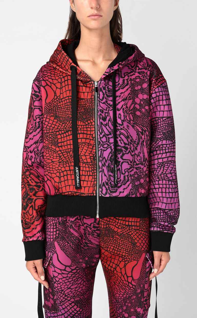 JUST CAVALLI Sweatshirt with Reptilia print Sweatshirt Woman r
