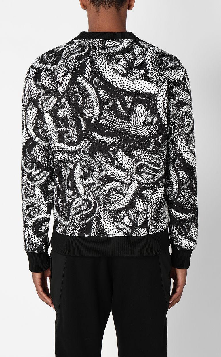 JUST CAVALLI Sweatshirt with Endless-Snake print Sweatshirt Man a