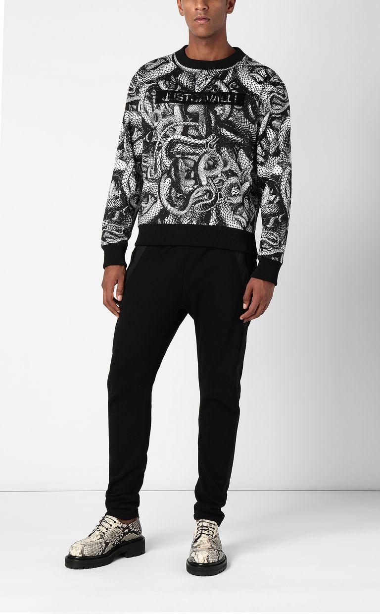JUST CAVALLI Sweatshirt with Endless-Snake print Sweatshirt Man d