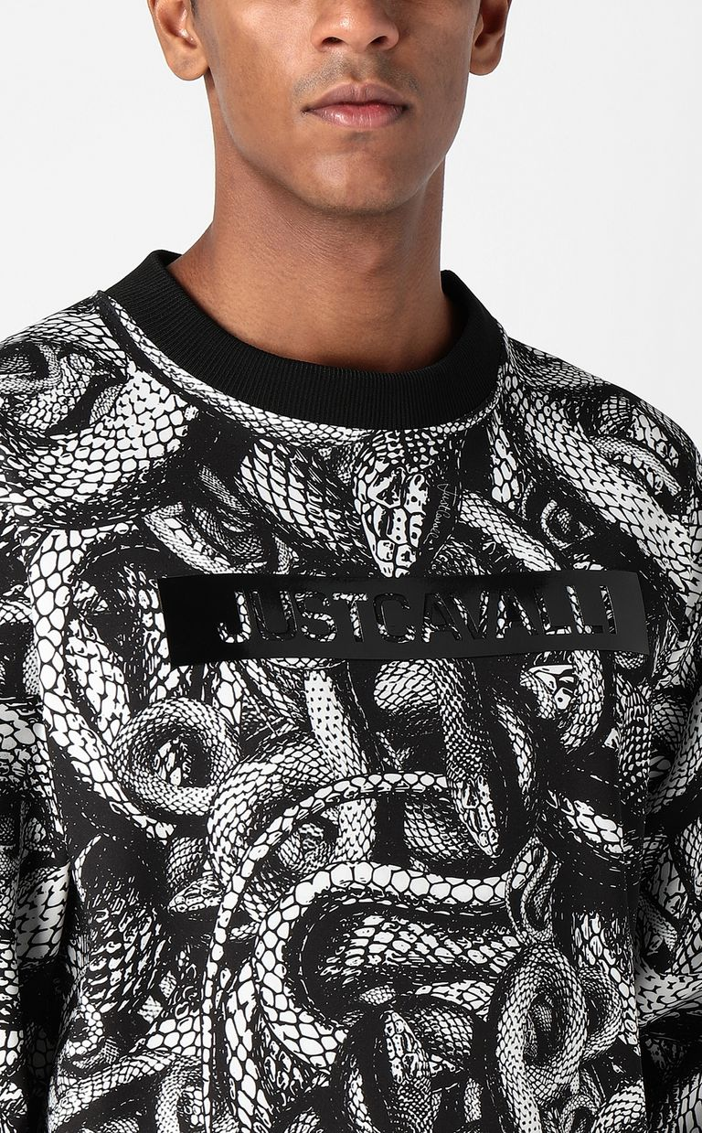 JUST CAVALLI Sweatshirt with Endless-Snake print Sweatshirt Man e