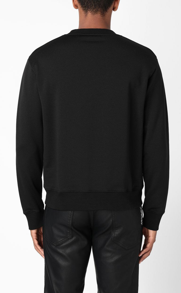 JUST CAVALLI Sweatshirt with sequinned skull Sweatshirt Man a