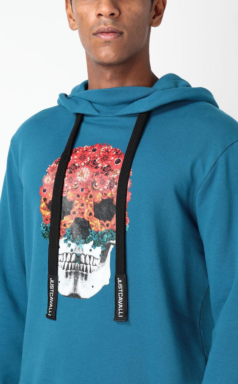 JUST CAVALLI Sweatshirt with Flower-Skull print Sweatshirt Man e