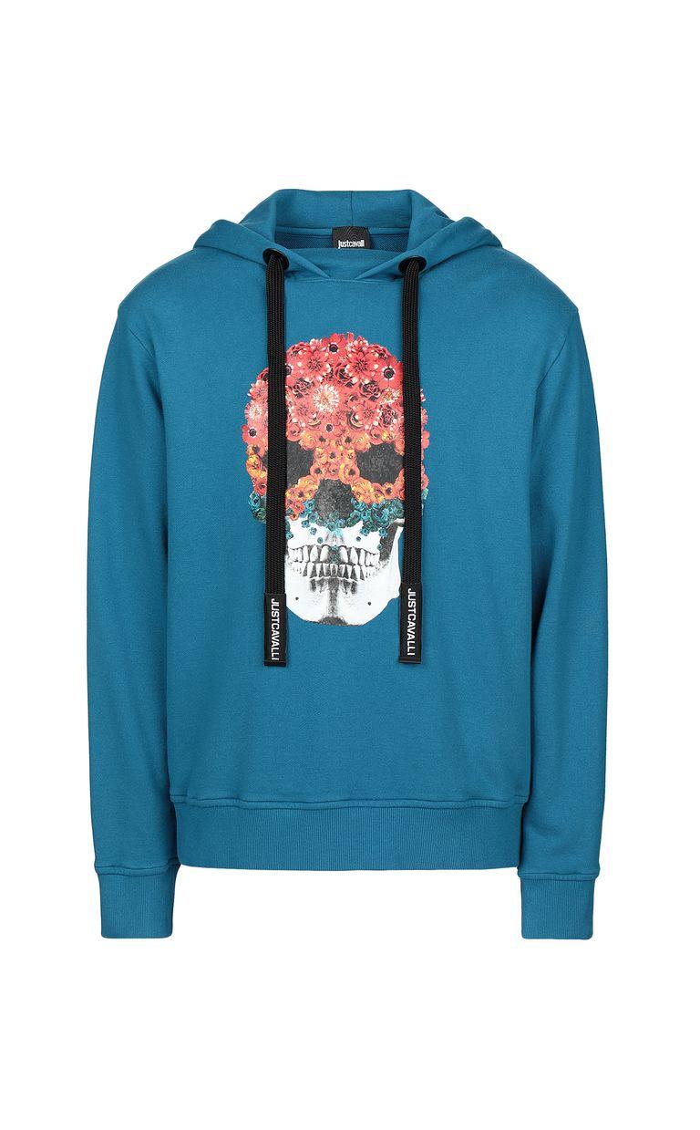JUST CAVALLI Sweatshirt with Flower-Skull print Sweatshirt Man f