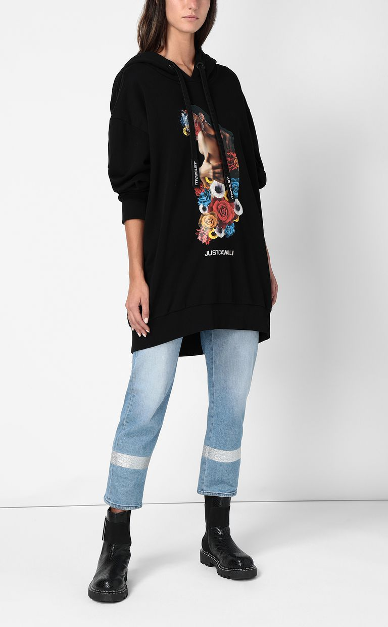 JUST CAVALLI Sweatshirt with print design Sweatshirt Woman d