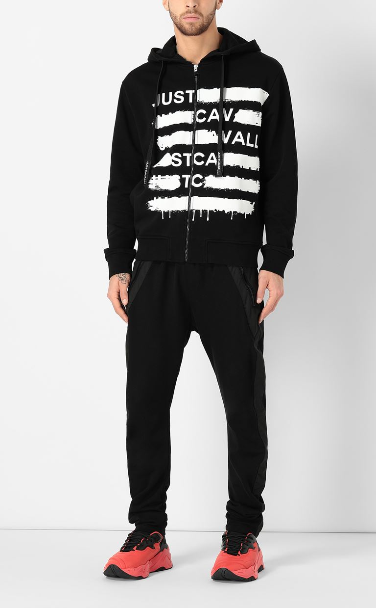 JUST CAVALLI Sweatshirt with logo print Sweatshirt Man d