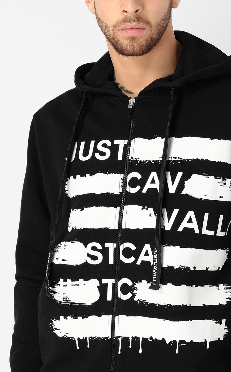 JUST CAVALLI Sweatshirt with logo print Sweatshirt Man e