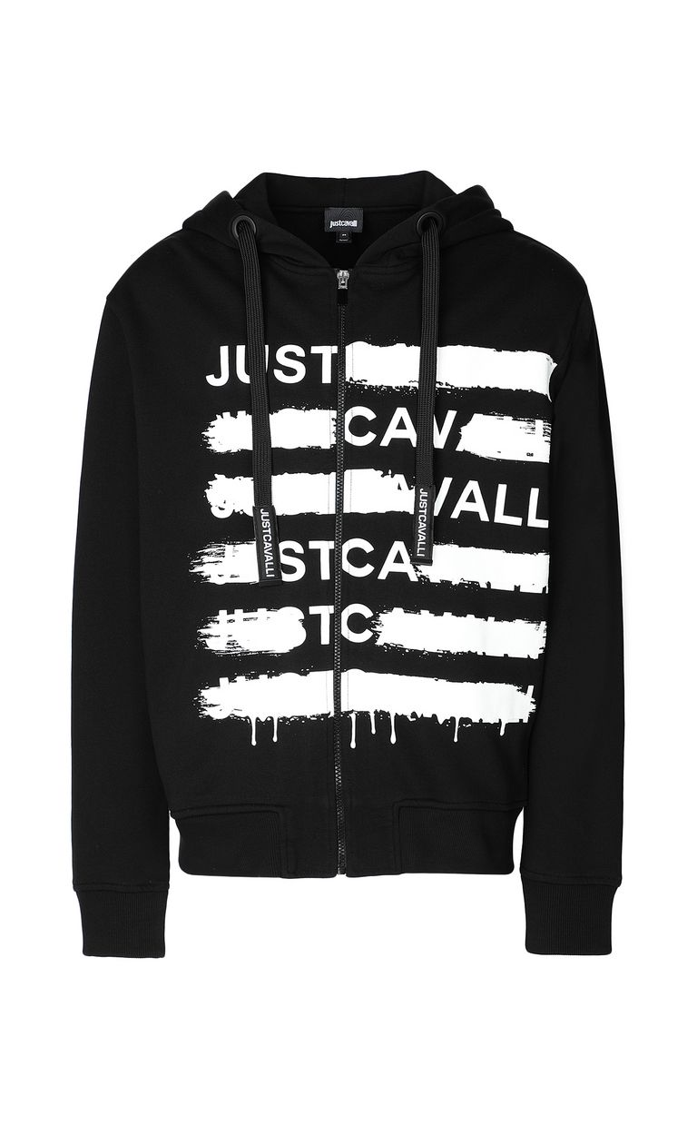 JUST CAVALLI Sweatshirt with logo print Sweatshirt Man f