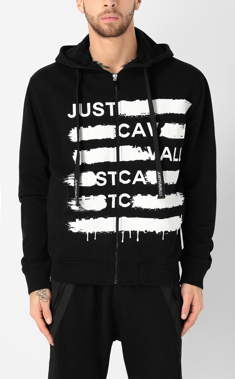 JUST CAVALLI Sweatshirt with logo print Sweatshirt Man r