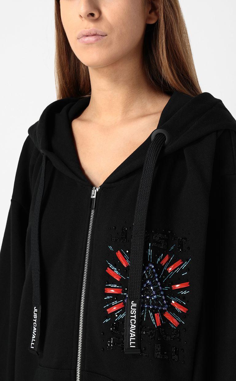 JUST CAVALLI Large sweatshirt with embroidery Sweatshirt Woman e