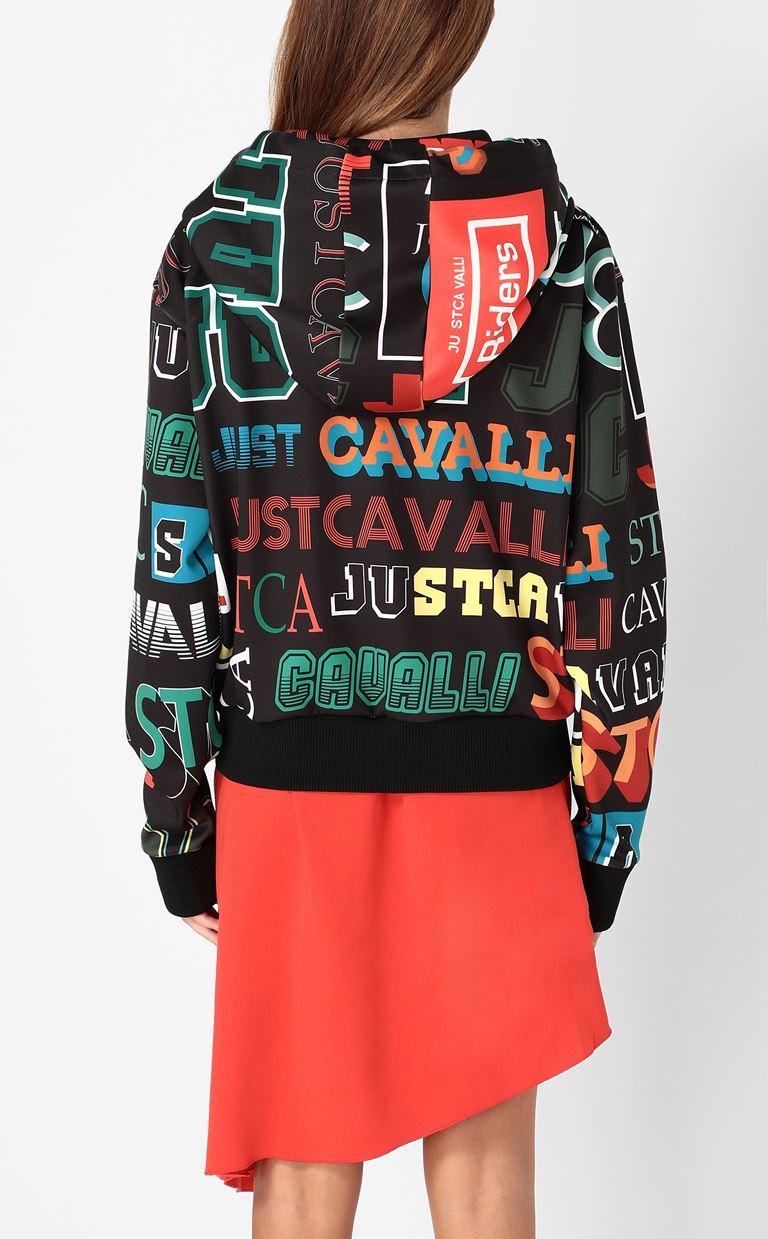 JUST CAVALLI Zip-front sweatshirt Sweatshirt Woman a