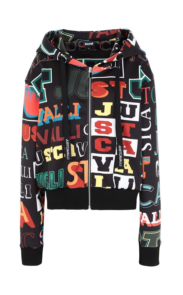 JUST CAVALLI Zip-front sweatshirt Sweatshirt Woman f