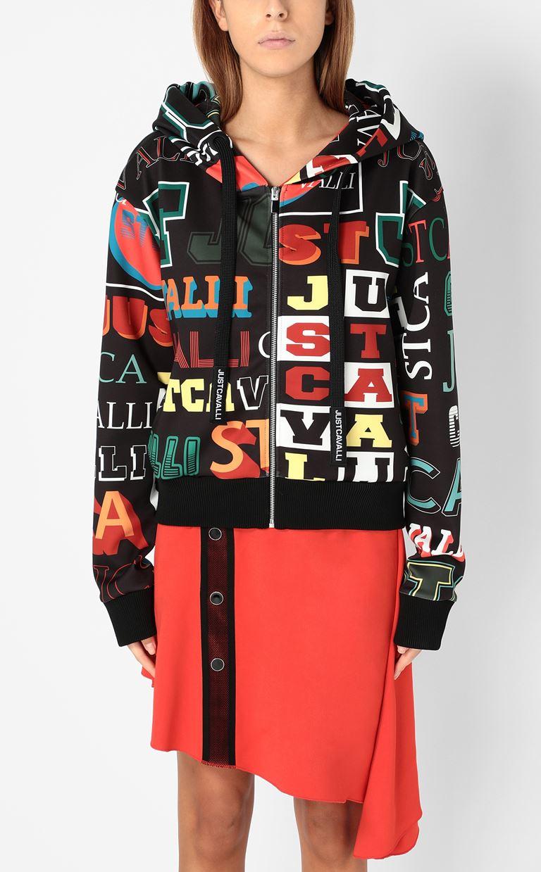 JUST CAVALLI Zip-front sweatshirt Sweatshirt Woman r