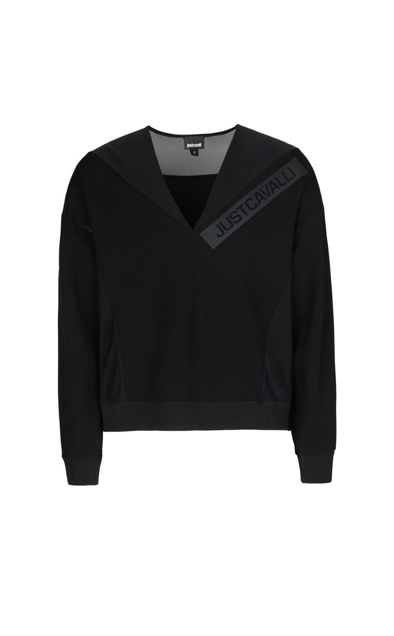 JUST CAVALLI Sweatshirt with logo print Sweatshirt Woman f