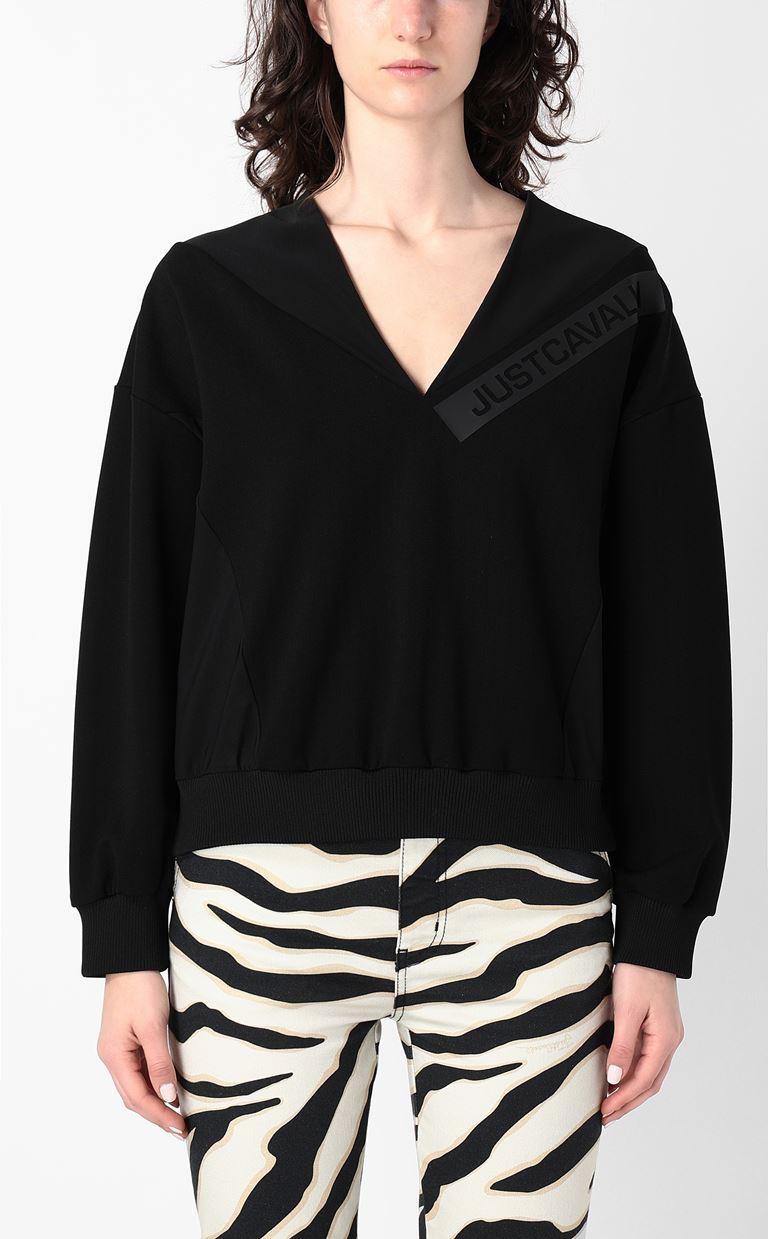 JUST CAVALLI Sweatshirt with logo print Sweatshirt Woman r