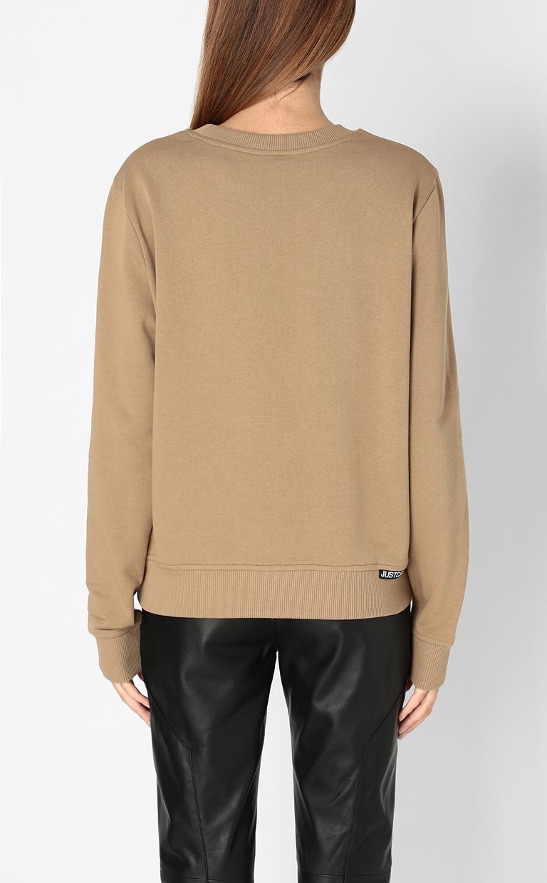 JUST CAVALLI Sweatshirt with print design Sweatshirt Woman a
