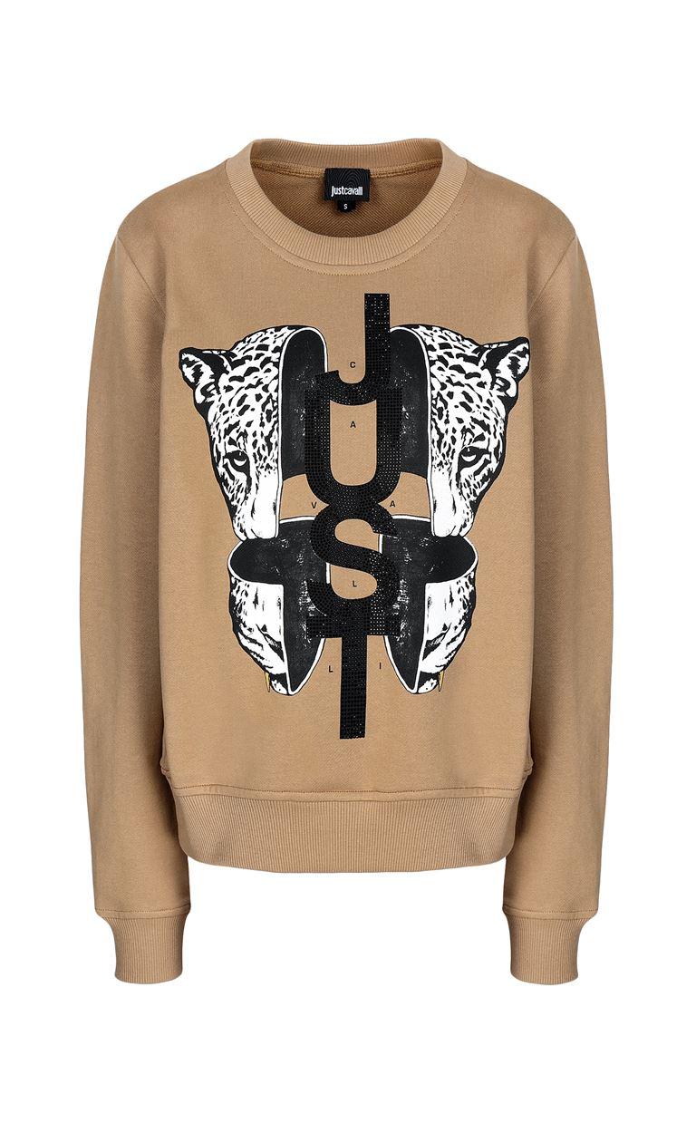 JUST CAVALLI Sweatshirt with print design Sweatshirt Woman f
