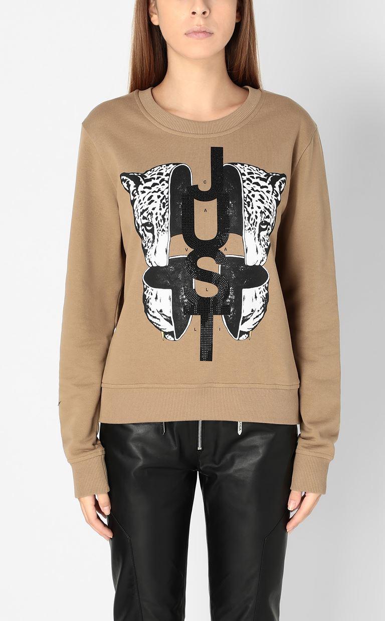JUST CAVALLI Sweatshirt with print design Sweatshirt Woman r