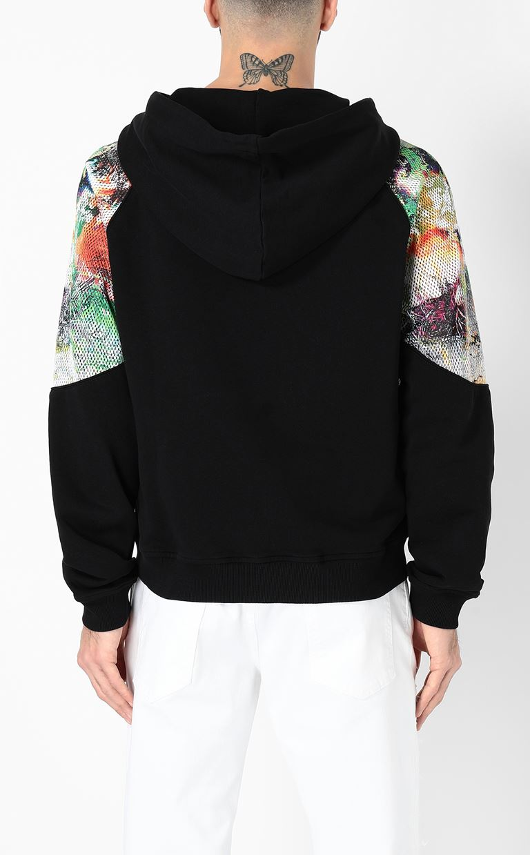JUST CAVALLI Sweatshirt with mesh detailing Sweatshirt Man a