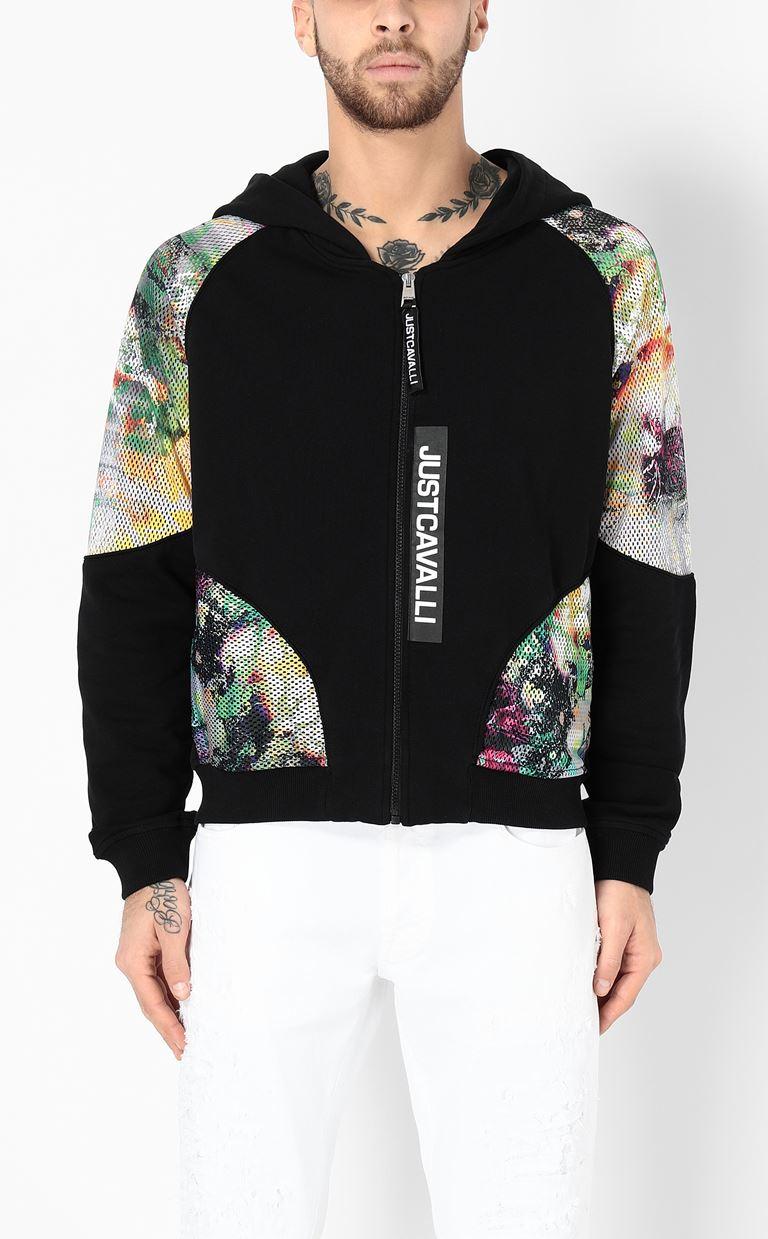 JUST CAVALLI Sweatshirt with mesh detailing Sweatshirt Man r