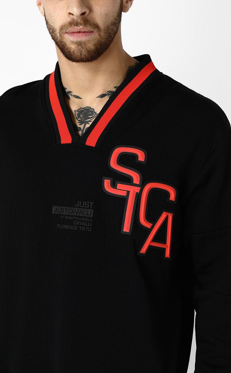 JUST CAVALLI Sweatshirt with logo print Sweatshirt Man a