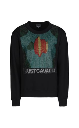 JUST CAVALLI Sweatshirt Man Sweatshirt with logo print f