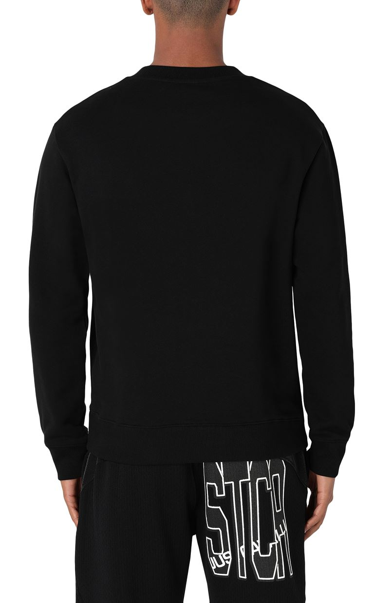 JUST CAVALLI Sweatshirt with small studs Sweatshirt Man a