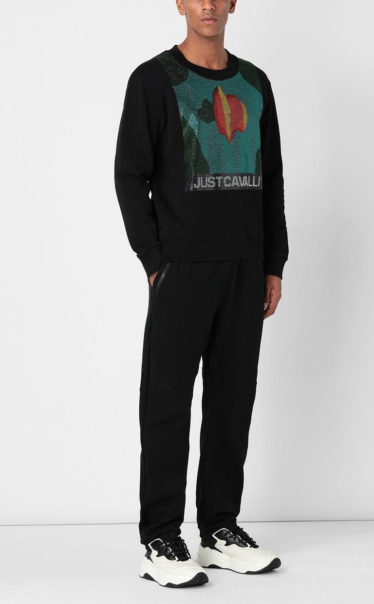 JUST CAVALLI Sweatshirt with small studs Sweatshirt Man d