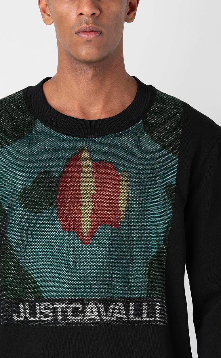 JUST CAVALLI Sweatshirt with small studs Sweatshirt Man e