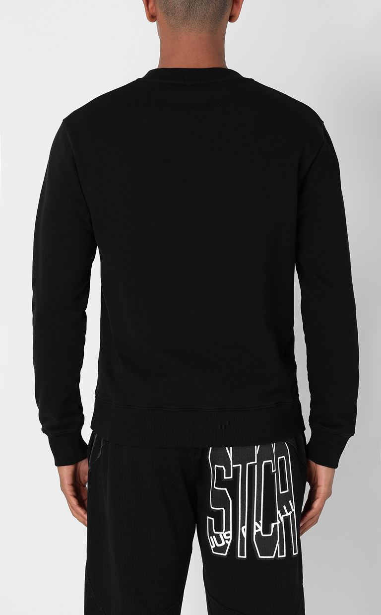JUST CAVALLI Sweatshirt with print design Sweatshirt Man a