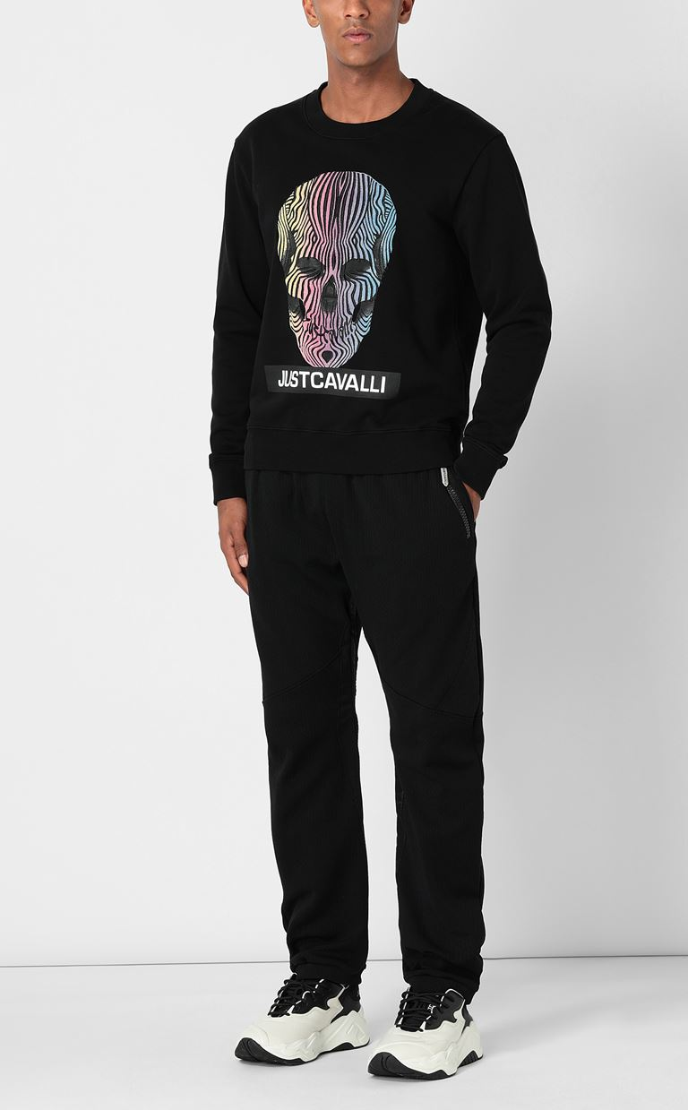 JUST CAVALLI Sweatshirt with print design Sweatshirt Man d