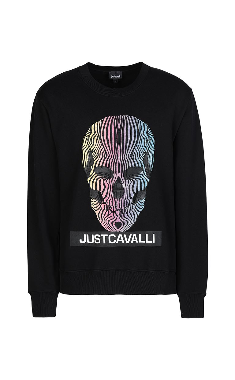JUST CAVALLI Sweatshirt with print design Sweatshirt Man f