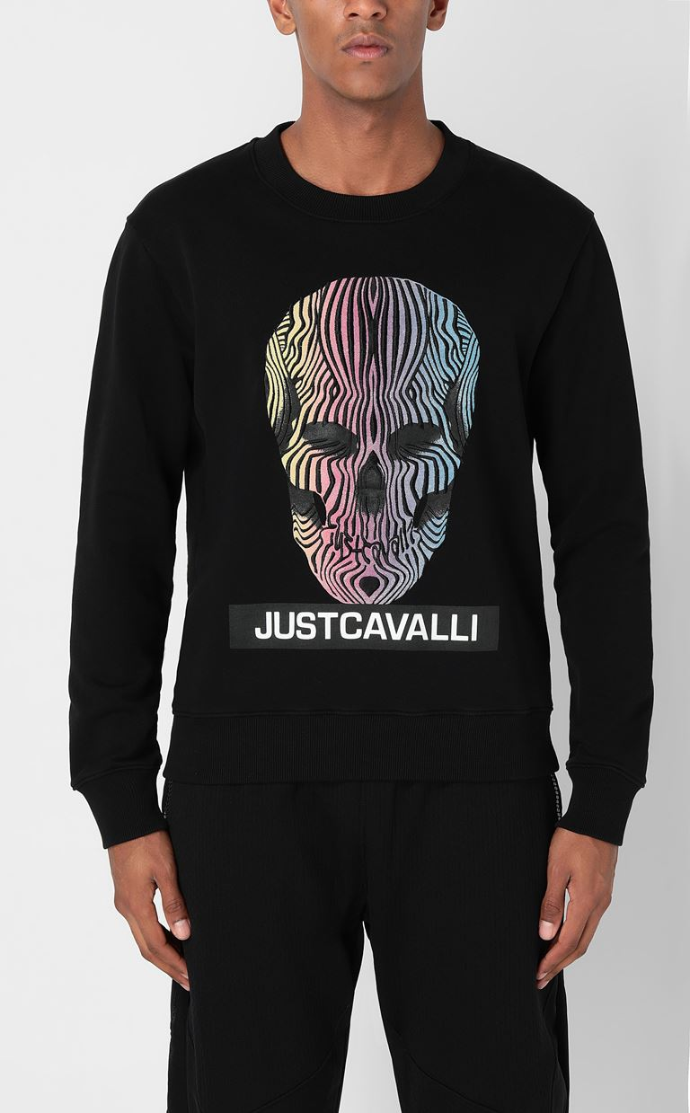 JUST CAVALLI Sweatshirt with print design Sweatshirt Man r