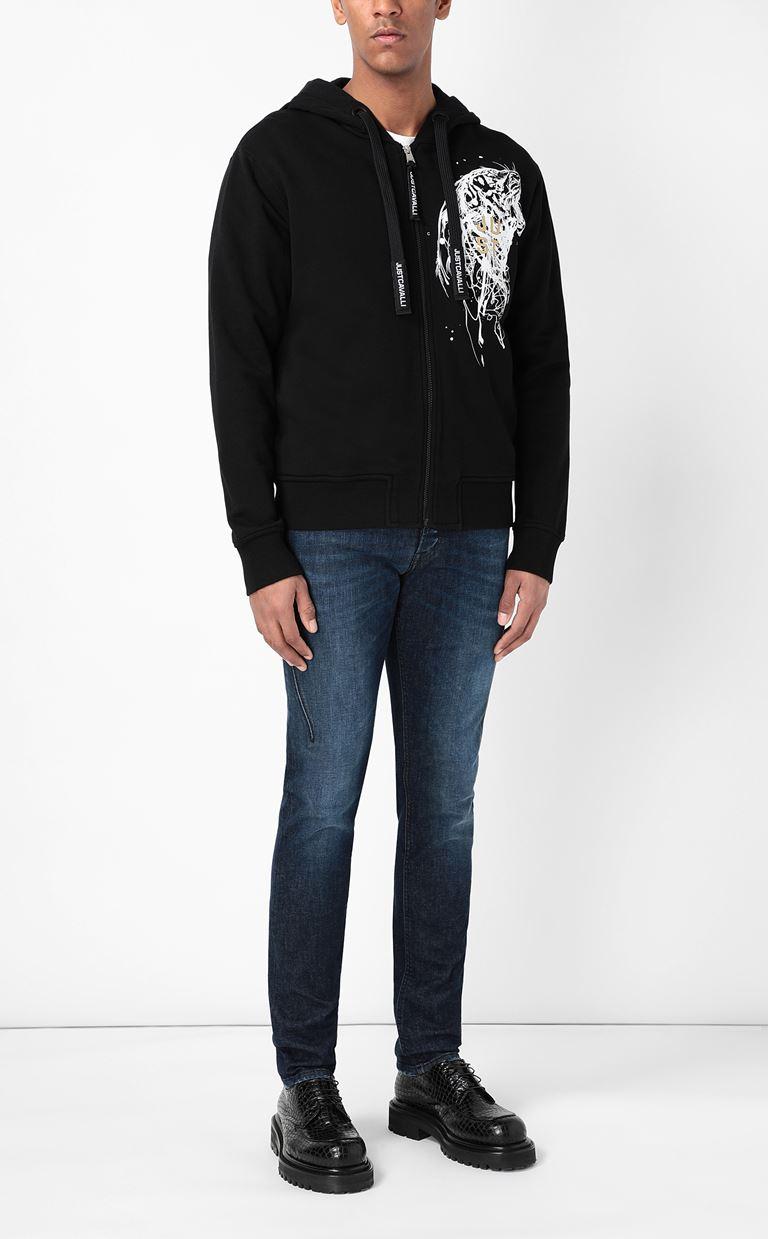 JUST CAVALLI Sweatshirt with tiger-stripe print Sweatshirt Man d