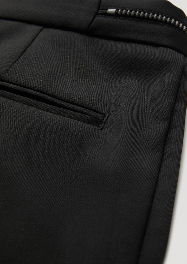 EMPORIO ARMANI Virgin Wool Trousers with metallic details Casual Pants Man b
