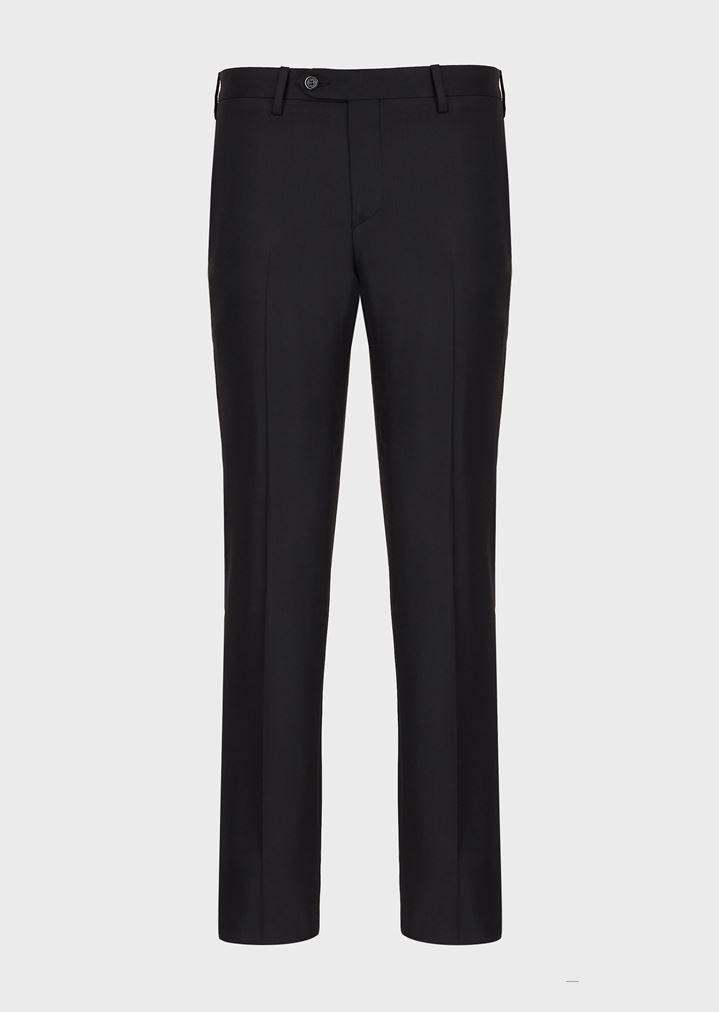 6d43564da1835 Pantalon slim en laine froide