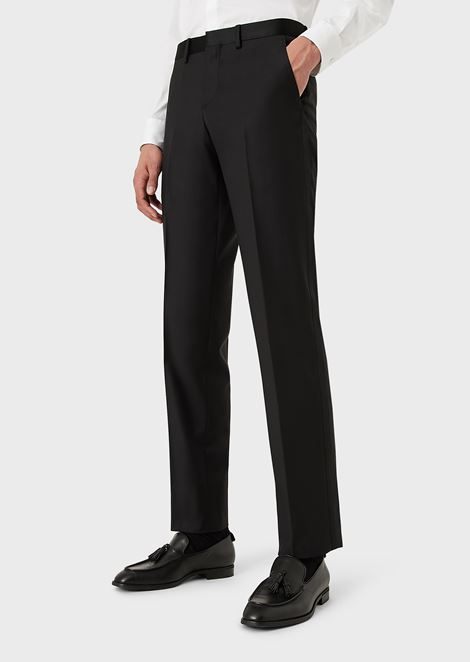 Slim-Fit Trousers in Virgin Wool