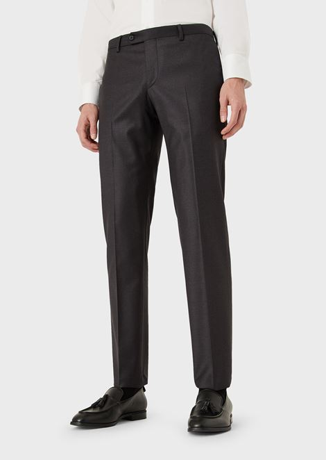 Slim-Fit Trousers in Tropical Wool