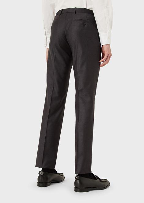 Slim-Fit Trousers in Tropical Wool