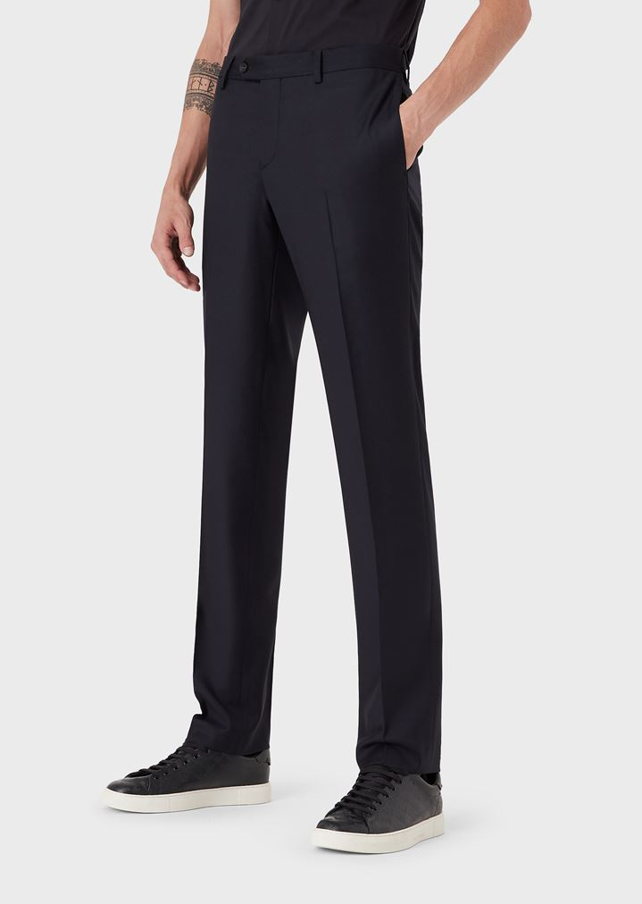 hot sale online 17c54 48efe Pantaloni slim in fresco lana