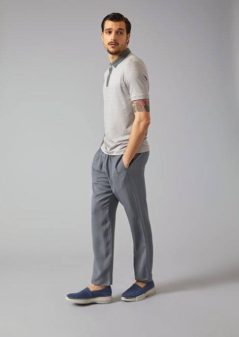 Cupro Drawstring Trousers