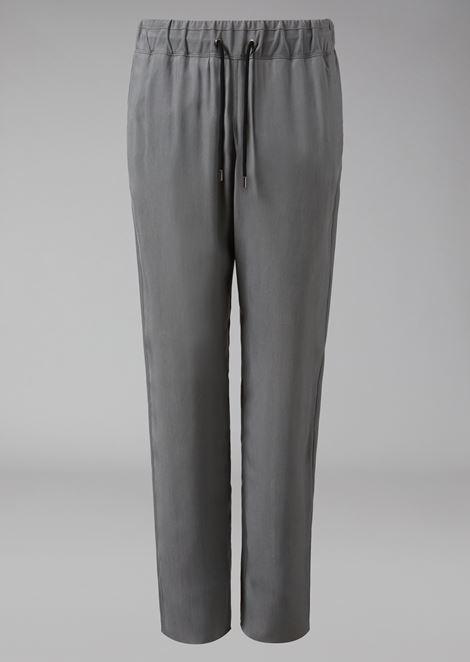 Pantalones con cordón de cupro
