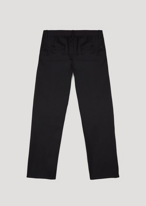 Cotton chinos with pockets
